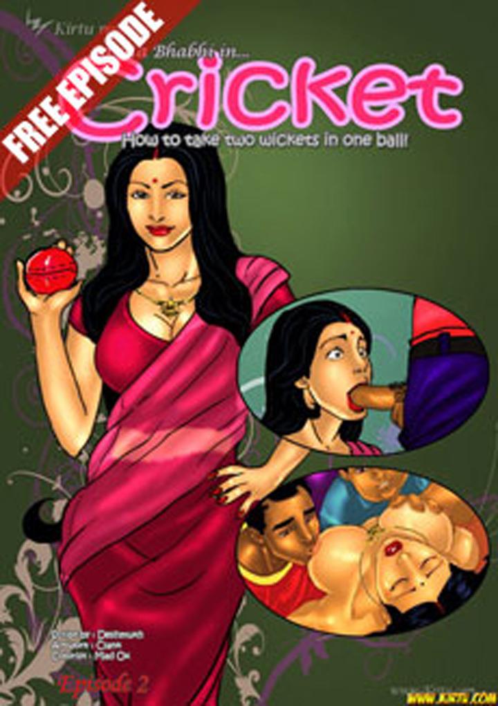 CRICKET, cómic porno de Savita Bhabhi. 1