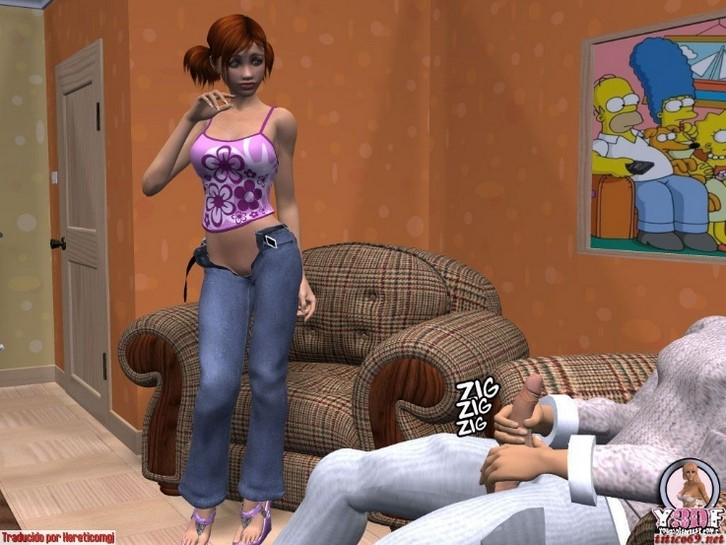 Adolescente cachonda saca sus bragas a un lado y muestra su coño 6
