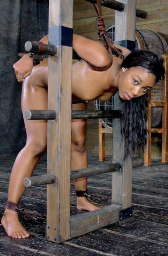 Chanell Heart ladder bound, tag teamed from both ends