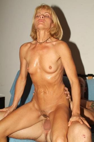 Ritta's a lovely blonde in her forties
