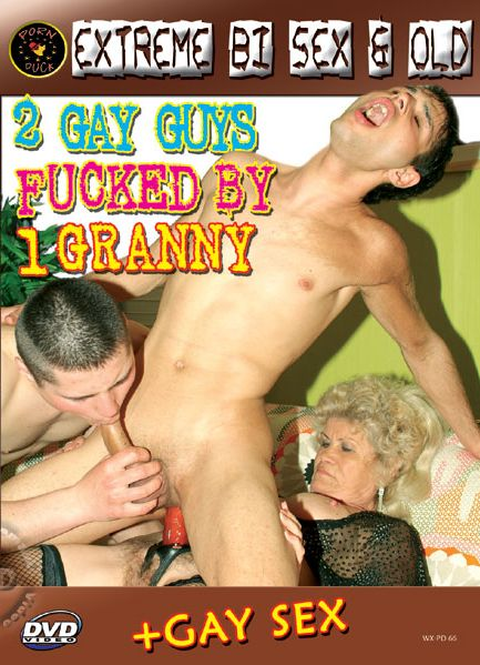 2 Gay Guys Fucked By 1 Granny (2008) - Bisexual