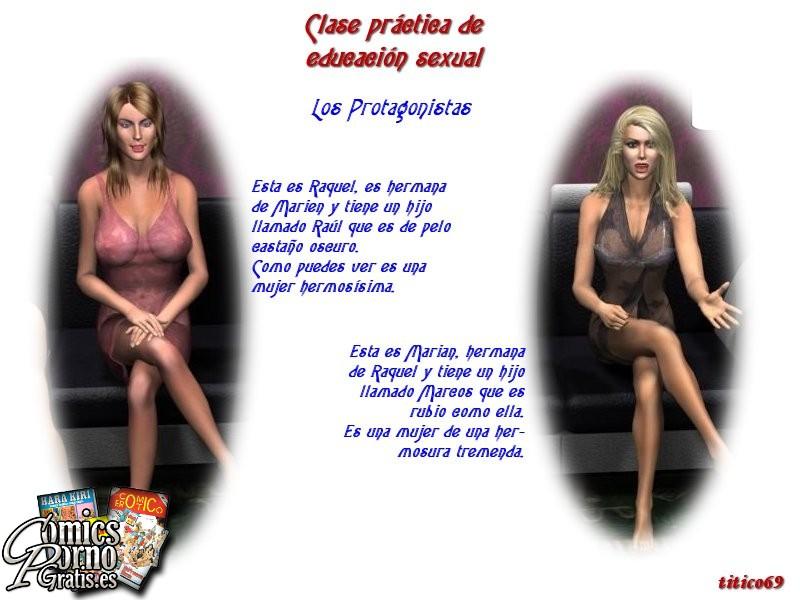Clase práctica de educación sexual
