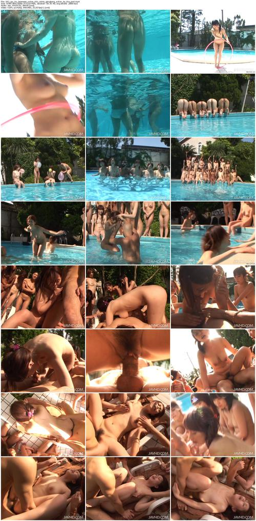 Outdoor Gangbang Action With Two Whores