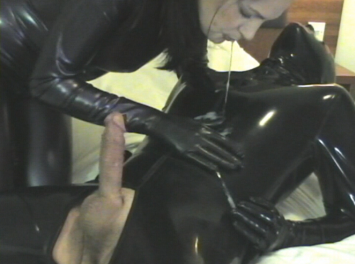 Amateur latex sex all does