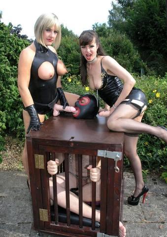 Caged Cum Guzzler