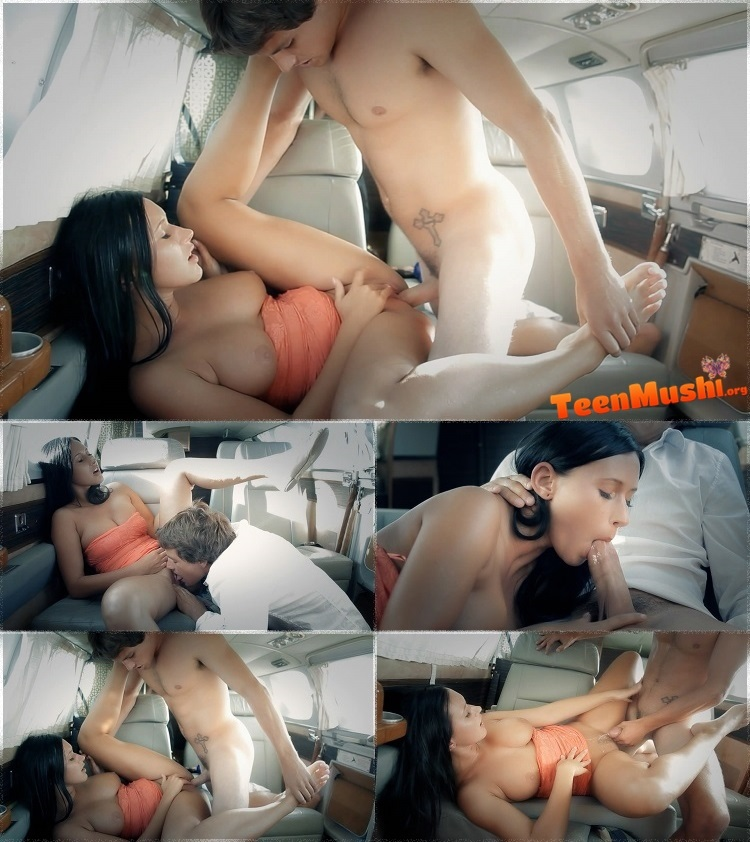 Porn sex on a plane