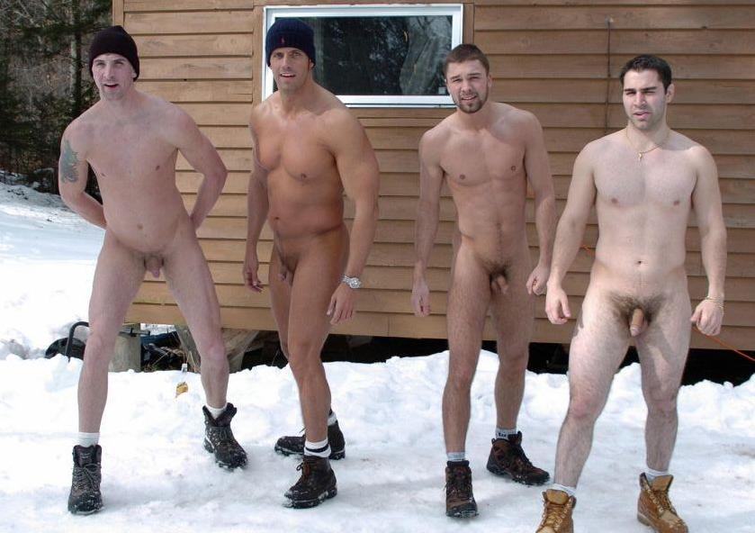 Photos of naked men in the snow