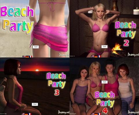 флэш порно игра пляжная вечеринка