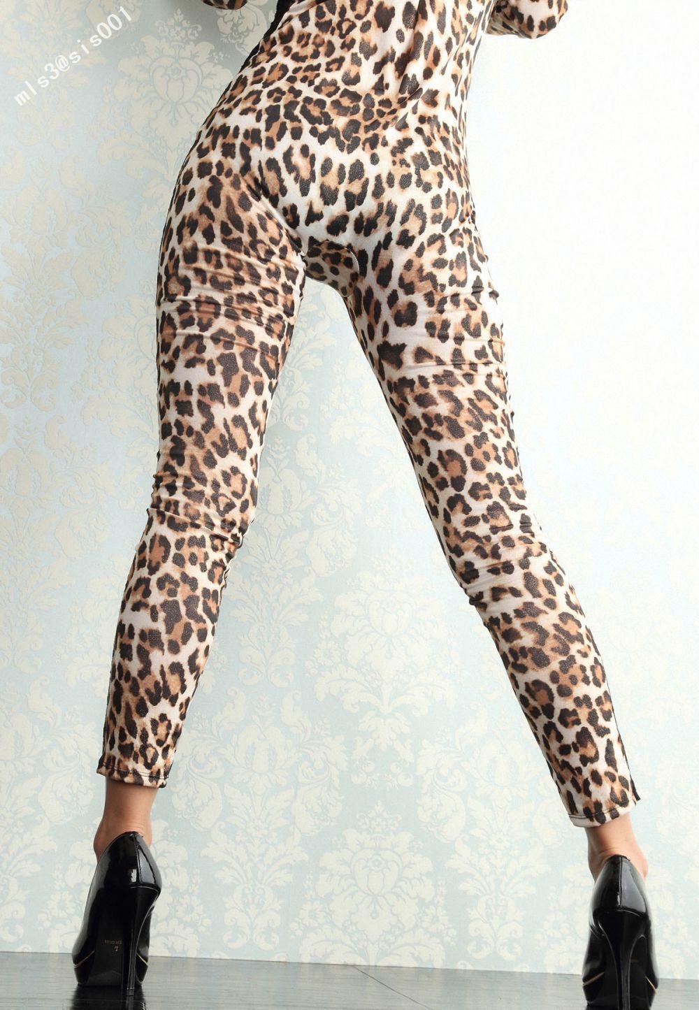 豹纹连体裤美女 abcy0