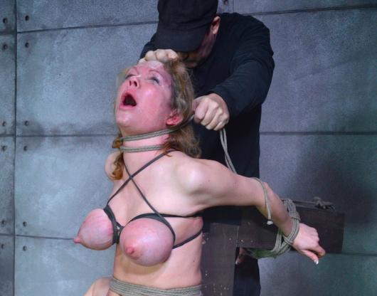Bondage hogtied strangling