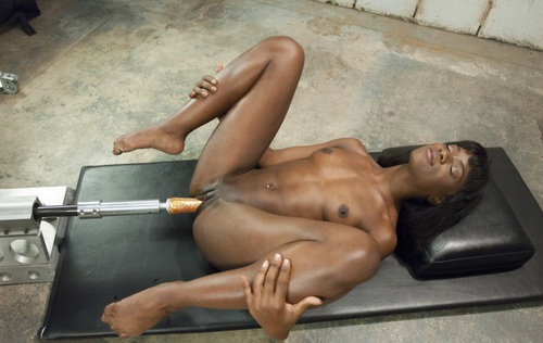 Rough oil fuck ebony sex slave angry