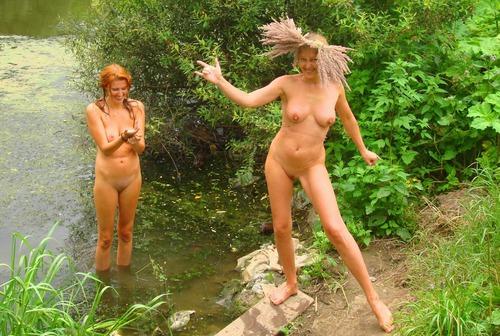 голая жена на природе свои фото