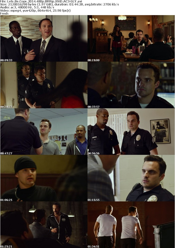 Lets Be Cops 2014 480p BRRip XViD AC3-GLY