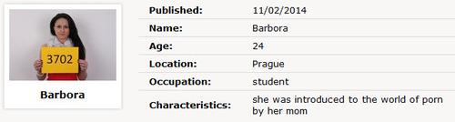 Barbora : Czech Casting 3702 [CzechCasting/Czechav] (2014|HD|720p)