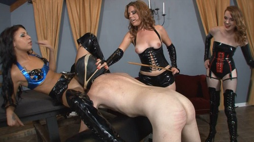 Face Fucked While Brutally Caned Female Domination