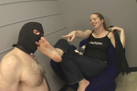 Whipping And Foot Worship Femdom