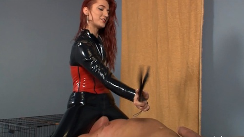 Facesitting And Punishment In Latex Trousers Female Domination