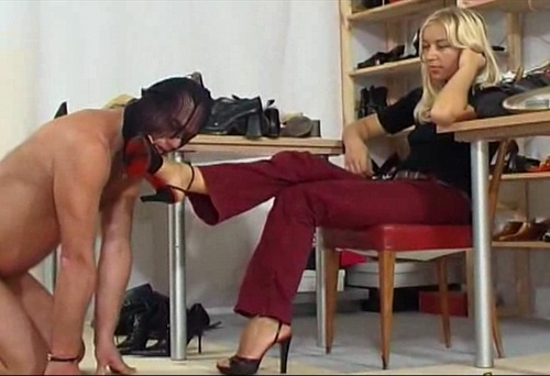 Black Sandals Footworship Female Domination