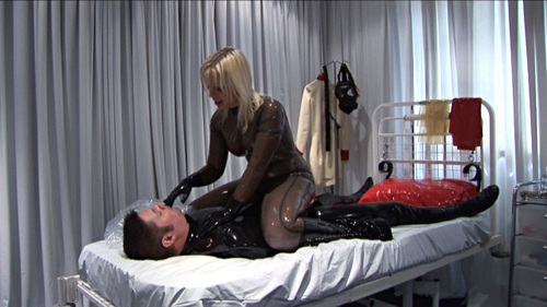Breath Play In Latex And Pvc Female Domination