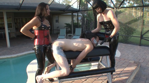 Ducttaped Strapon Female Domination