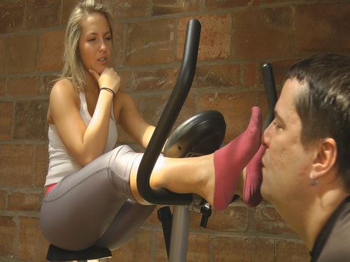 Jackies Sweaty Workout Feet Female Domination