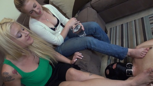 Spit From Two Girls Femdom