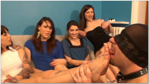 Quartet Mistresses Female Domination Foot Fetish