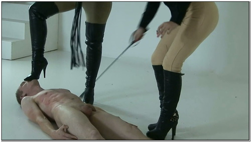 Two Mistresses Trample A Slave Female Domination