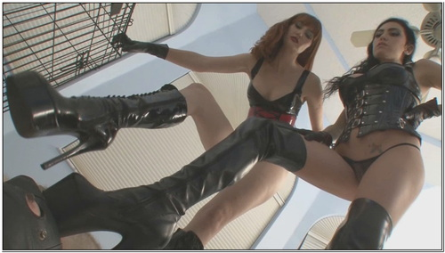 Boot Bitch Gets Caned Female Domination