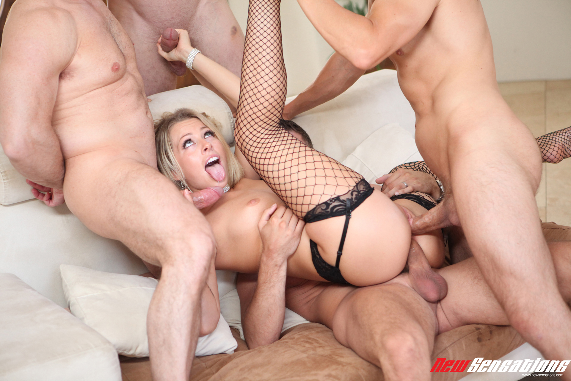 A wild foursome with gorgeous girls 5