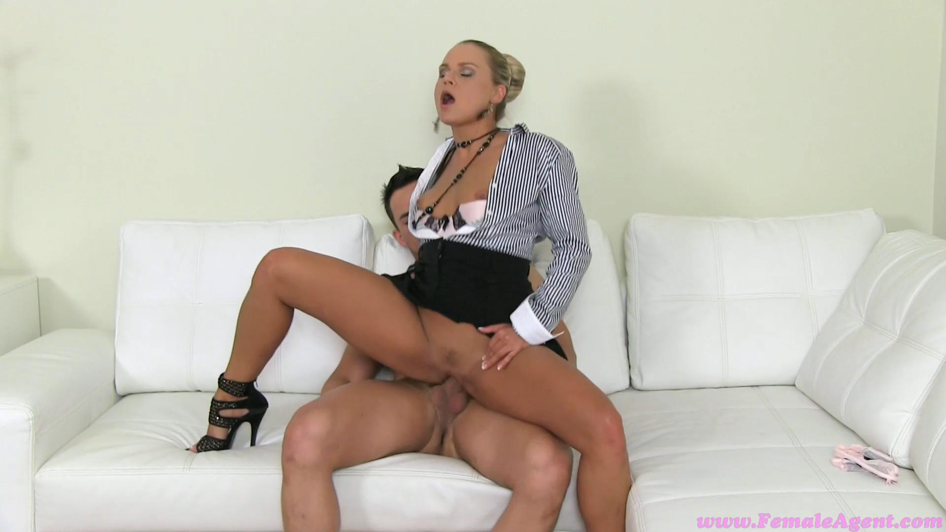 Femaleagent milf fucks hot girls boyfriend in front of her 6