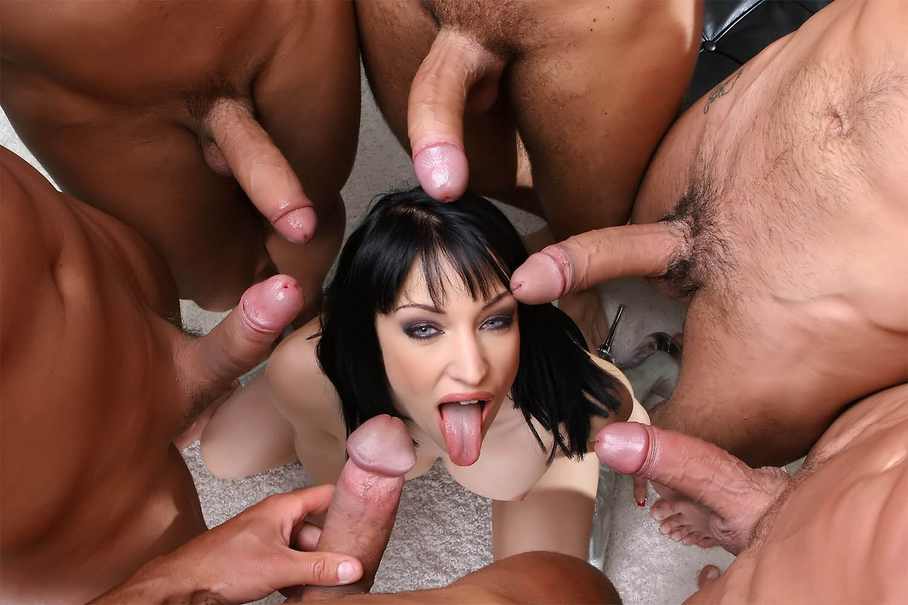 Multiple dicks in one woman