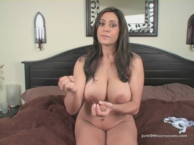 Mom jerks off happy son who then cums on her tits