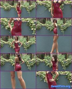 Lara – Red Latex Dress