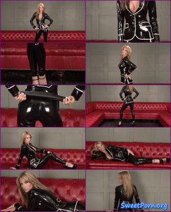 Natalie – Black Latex Suit