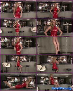 Natalie – Red Latex Dress