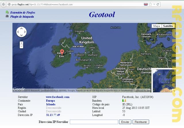 Encuentra la ubicación exacta de una dirección IP