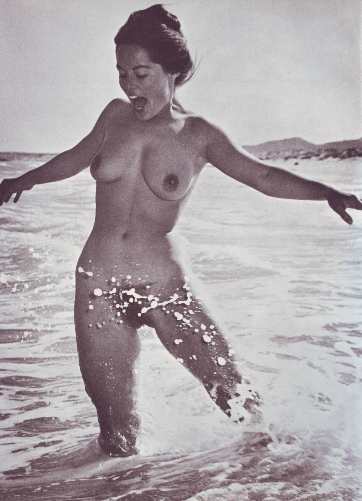 Beautiful Girl Sofia Webber Takes Off A Swimsuit For A Nude Centerfold Spread