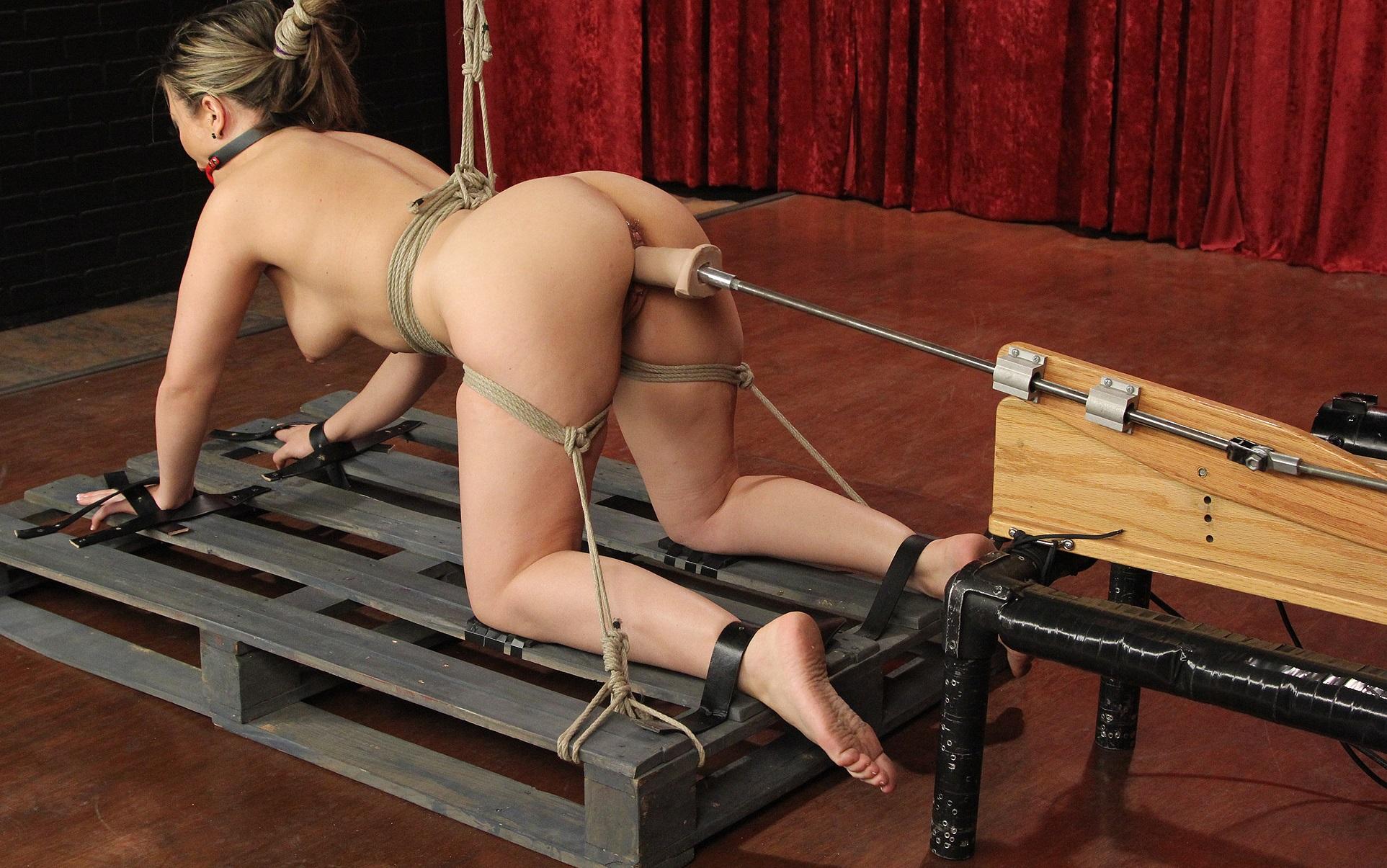 Fucking machines bondage sissy