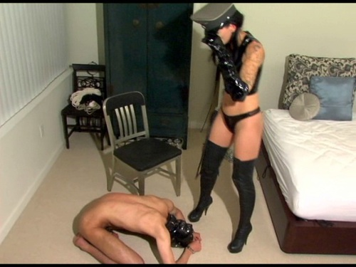 Whipping And Kicking Femdom