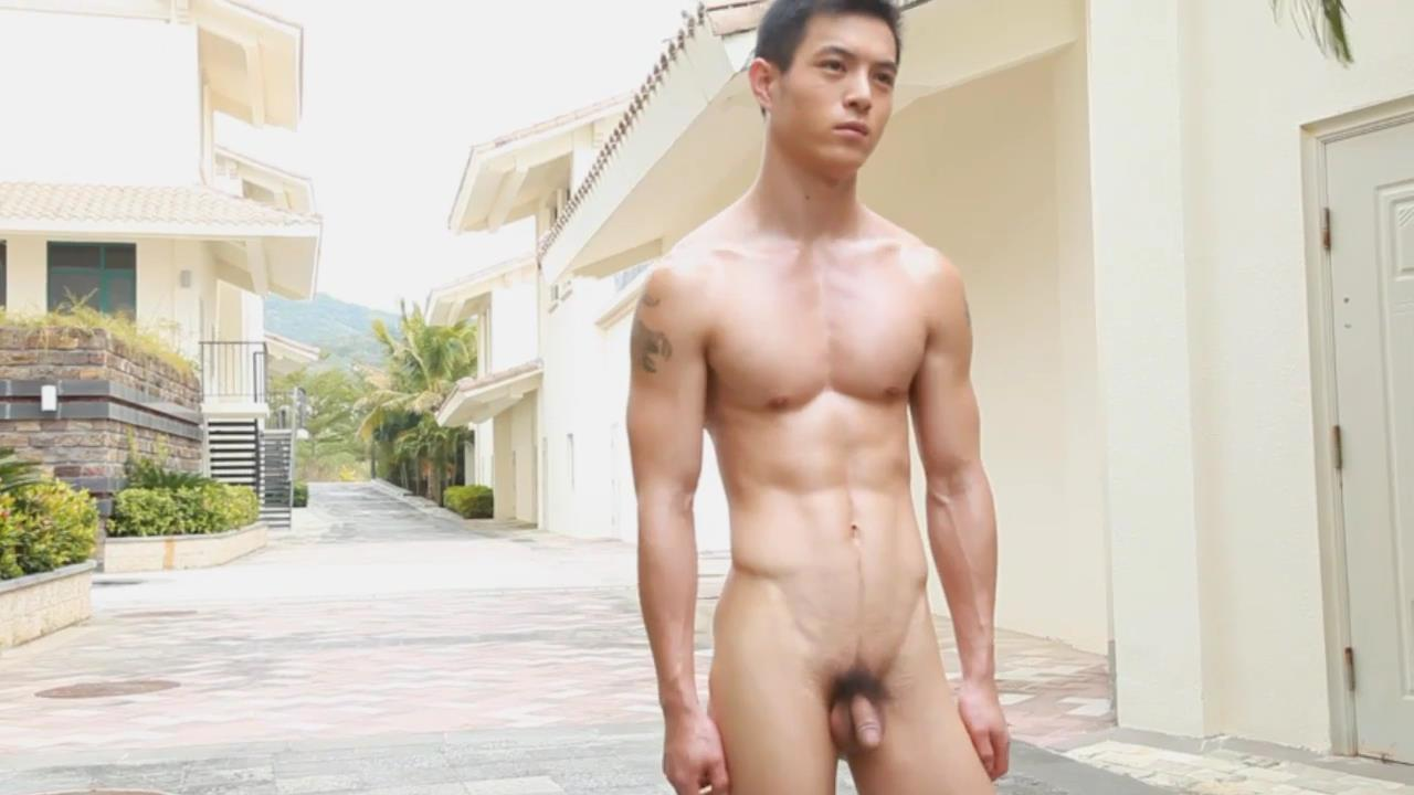 Nude gay asian man